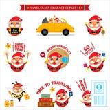 Insiemi di Santa Claus Immagine Stock