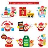 Insiemi di Santa Claus Fotografia Stock