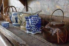 Insiemi di tè ceramici Fotografia Stock
