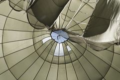 Insight of a paratrooper parachute royalty free stock photo