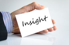 Insight Concept. Insight note in business man hand Stock Images