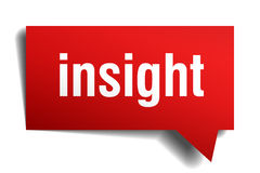 Insight red paper speech bubble Stock Photos