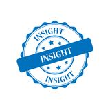 Insight stamp illustration. Insight blue stamp seal illustration design Stock Image