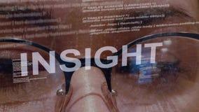Insight text on female software developer