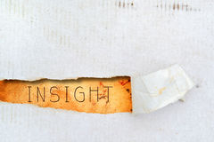 Insight title on old paper Royalty Free Stock Image
