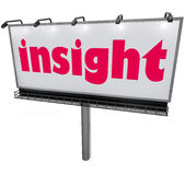 Insight Word Billboard Information Analysis Wisdom Explained Royalty Free Stock Photos