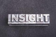 Insight word bm Royalty Free Stock Photo