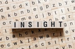 Insight word concept royalty free stock photography