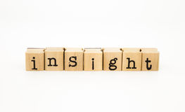 Insight wording, intelligence and knowledge concept Royalty Free Stock Photography