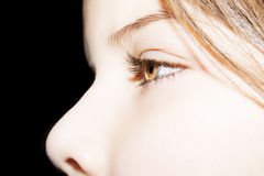 Insightful look eyes. Beautiful insightful look eyes girl Royalty Free Stock Photography