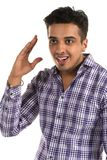Insightful man. Handsome young Indian man with an insightful expression Royalty Free Stock Photos