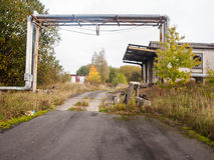 Insights into an forgotten warehouse Stock Photo