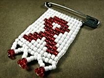 Insigne 2 de SIDA Image libre de droits