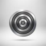 Insigne abstrait en métal de cercle de technologie Photos libres de droits