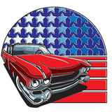 Insigne américain de style illustration de vecteur