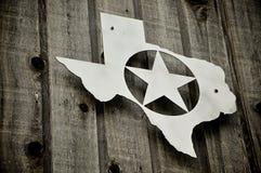 Insigne argenté du Texas Photos stock