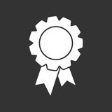 Insigne avec l'icône de ruban illustration libre de droits