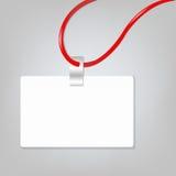Insigne blanc Photo libre de droits