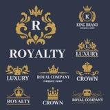 Insigne blanc de la meilleure qualité de vintage de roi de couronne illustration de vecteur
