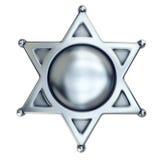 Insigne blanc de shérif illustration stock