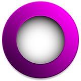 Insigne coloré de cercle, bouton, goupille, élément de label Vide, vide Photo libre de droits