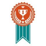 Insigne coloré de récompense de gagnant illustration stock