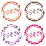 Insigne commercial d'assurance sur le blanc illustration de vecteur