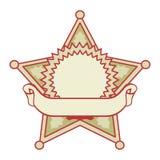 Insigne d'étoile avec un drapeau illustration de vecteur