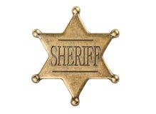 Insigne d'étoile de shérif de vintage Images stock