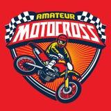 Insigne d'événement de motocross illustration de vecteur