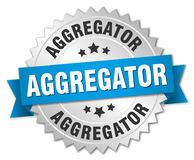 Insigne d'Aggregator Images stock
