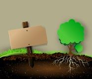 Insigne d'arbre et en bois Photographie stock libre de droits