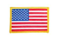 Insigne d'uniforme de DRAPEAU des USA photographie stock libre de droits