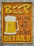 Insigne de bière images libres de droits