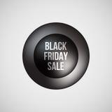Insigne de bulle de vente de Black Friday Photos libres de droits