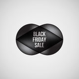 Insigne de bulle de vente de Black Friday Photos stock
