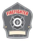 Insigne de casque de sapeur-pompier illustration de vecteur