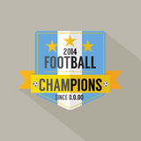 Insigne de champions du football ou du football Photos stock