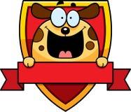 Insigne de chien de bande dessinée illustration de vecteur