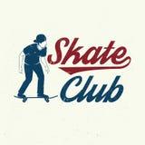 Insigne de club de patin Illustration de vecteur Photos libres de droits