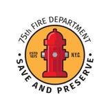 Insigne de corps de sapeurs-pompiers illustration de vecteur