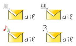 Insigne de courrier illustration de vecteur