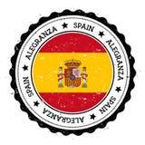 Insigne de drapeau d'Alegranza illustration stock