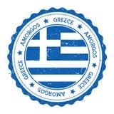 Insigne de drapeau d'Amorgos Image libre de droits