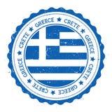 Insigne de drapeau de Crète Photo libre de droits