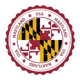 Insigne de drapeau du Maryland illustration stock
