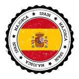 Insigne de drapeau de Majorca illustration libre de droits