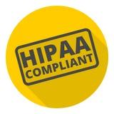 Insigne de HIPAA - portabilité d'assurance médicale maladie et icône d'acte de responsabilité illustration stock