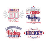 Insigne de hockey sur glace illustration stock