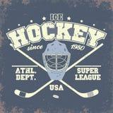 Insigne de hockey sur glace illustration libre de droits